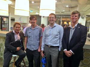 Phil Reid, Steve Bennett (Open Knowledge), Evan Quick, Adrian Porteous.