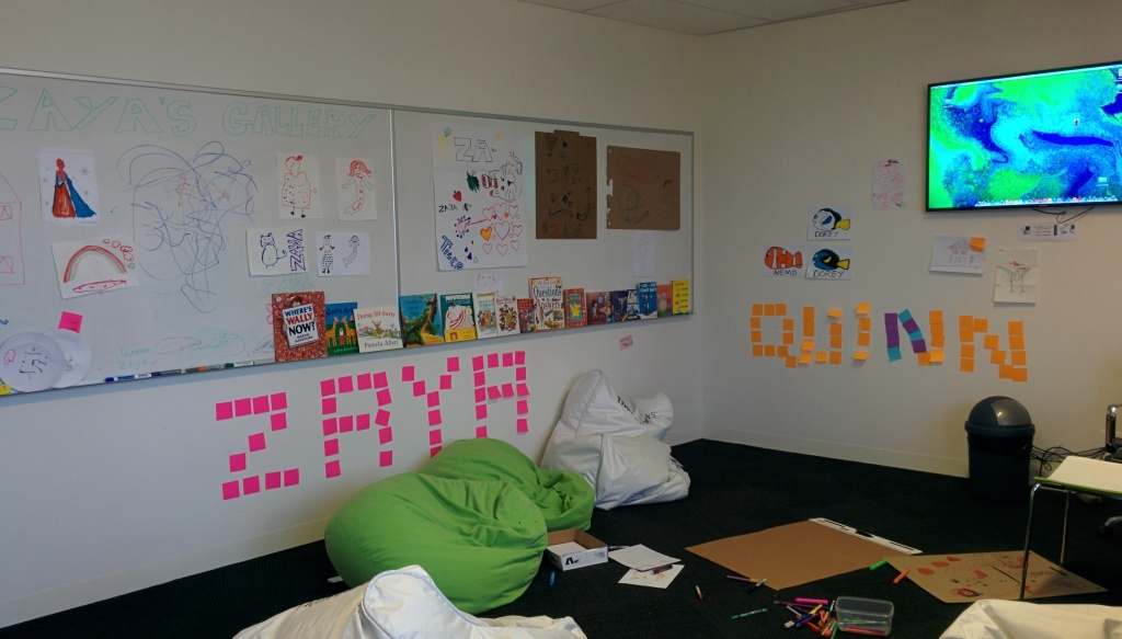 Childcare room at GovHack